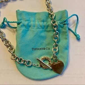 Tiffany & Co. Chain Heart Toggle Necklace